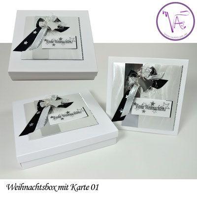 Weihnachtsverpackung - Box mit Weihnachtskarte  Nr. 01 ... eine tolle Idee um Gutscheine oder Geld originell zu verpacken ...