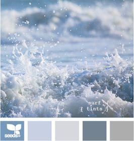 blue surf color palette for beach decor