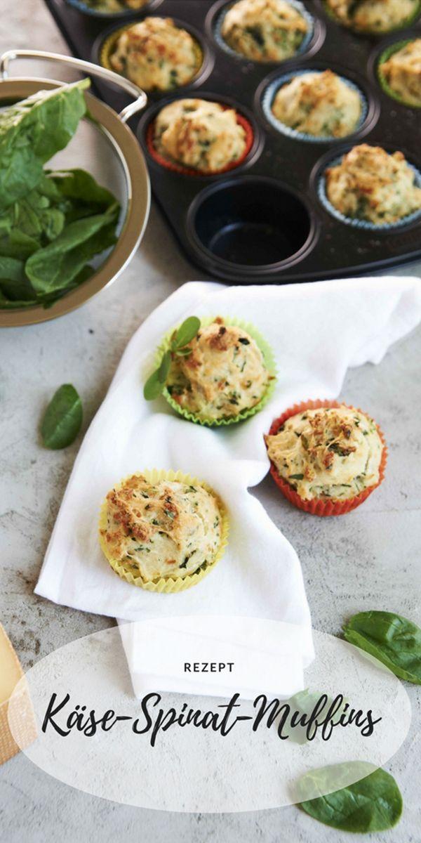 Rezept: Käse-Spinat-Muffins - Sweet & Easy - Enie backt - sixx