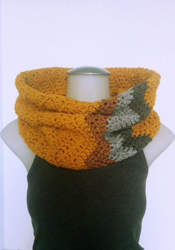Crochet Chevron Cowl Crochet Infinity Scarf by TillysCozyHooks #chevroncowl#cozycowl#infinitycowl #infinityscarf#chevronprint#winterstyle #ladiesfashion#ladiesstyle#winterfashion #winterstyle#womensfashion#womensstyle #crochetcowl#knittedcowl#winteraccessories #fallfashion#fallstyle#autumnstyle #autumnfashion