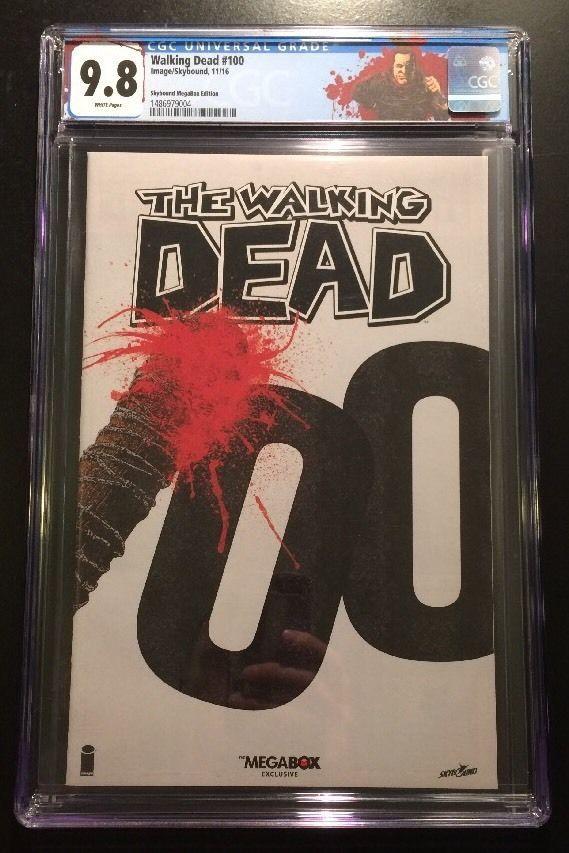The Walking Dead 100 / 1st Negan / Megabox Variant CGC 9.8 / WD Negan Label Rare / Selling Now!!!