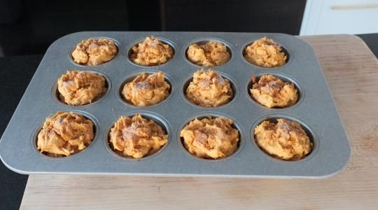 Sweet Potato & Apple Muffins Recipe from Jessica Seinfeld                                                                                                                                                                                 More