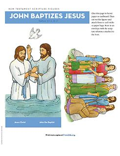New Testament Scripture Figures, John Baptizes Jesus