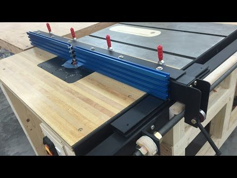 Making a fence for my extension wing router table, taking advantage of the incremental positioner on my table saw fence rail. Table Saw Fence with Incrementa...