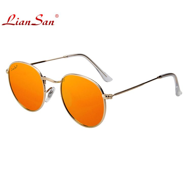 LianSan Pilot Unpolarized Sunglasses Women Men Aviator Brand Designer Aluminium Luxury Fashion Male UV400 Pink Glass Lens LS3447