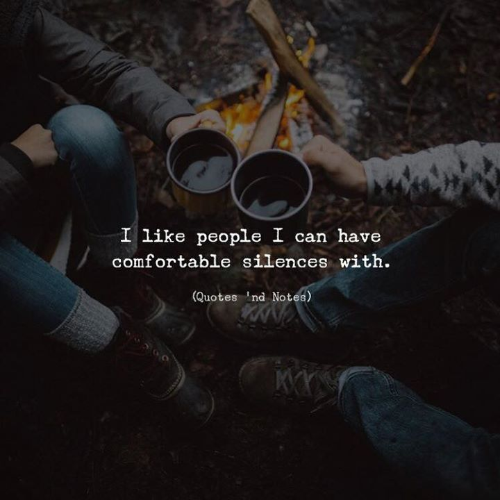 I like people I can have comfortable silences with. by: Zack Melhus via (http://ift.tt/2EZJrxS)