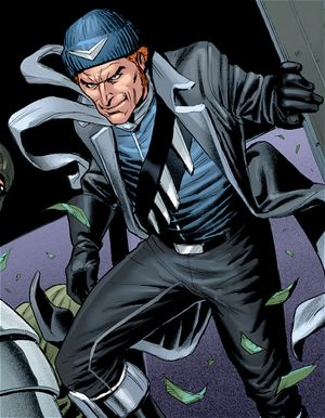 "CAPTAIN BOOMERANG:  Owen Mercer carries a number of boomerangs in his satchel. He is an expert at throwing the weapons and he has a number with special properties, including bladed, explosive, incendiary, and electrified boomerangs.  Owen has also exhibited ""speed bursts"": short burst of limited super speed over short distances, most notably when throwing boomerangs."