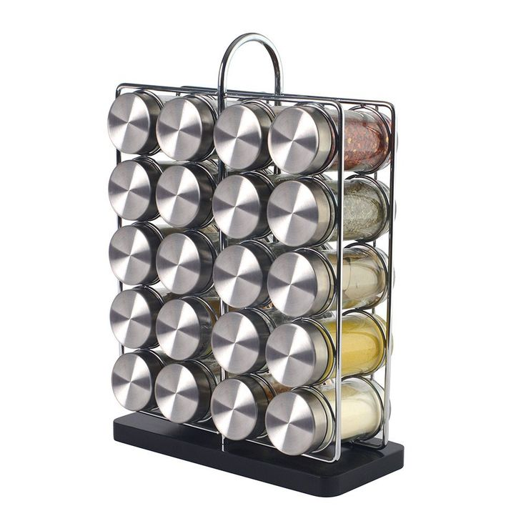 ProCook Contemporary Spice Rack 20 Jars With Spices: Amazon.co.uk: Kitchen & Home