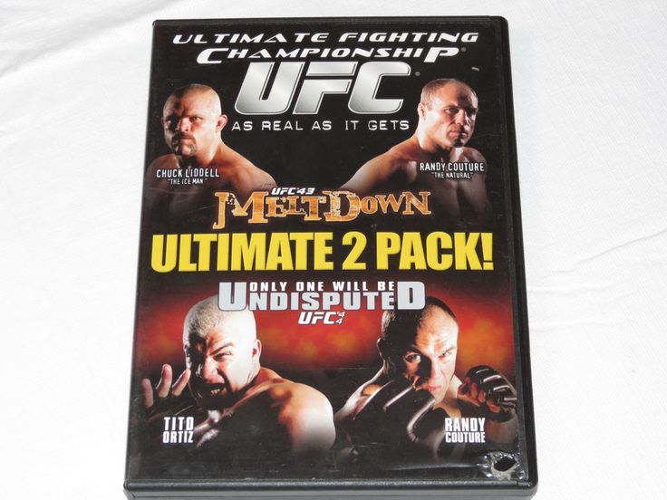 Ultimate Fighting Championship UFC 43 & 44 DVD 2005 Single Amaray Randy Couture
