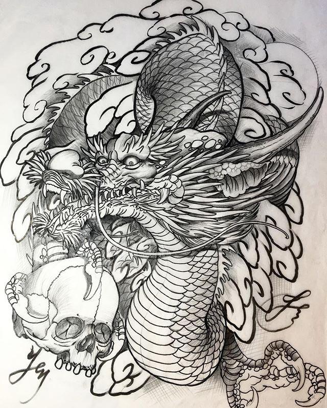 Original dragon drawing of a new sleeve design by @jessyentattoo for upcoming Sunday outline. Thank you very much for the support, I will do my best #jessyen #horiyen #mytattoo #bodyart #tattoosketch #tattoodesign #dragontattoo #dragon #drawing #irezumi #oriental #originalart #sketch #彫顏 #刺青 #紋身 #入墨 #龍 #竜 @jessyendotcom @mytattooandpiercing