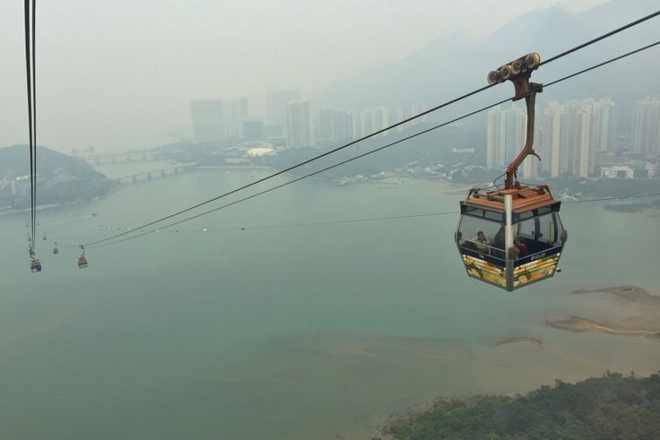 Ngong Ping 360 cable car, the best way to reach the seated Tian Tan Buddha in the Lantau Island - Hong Kong.