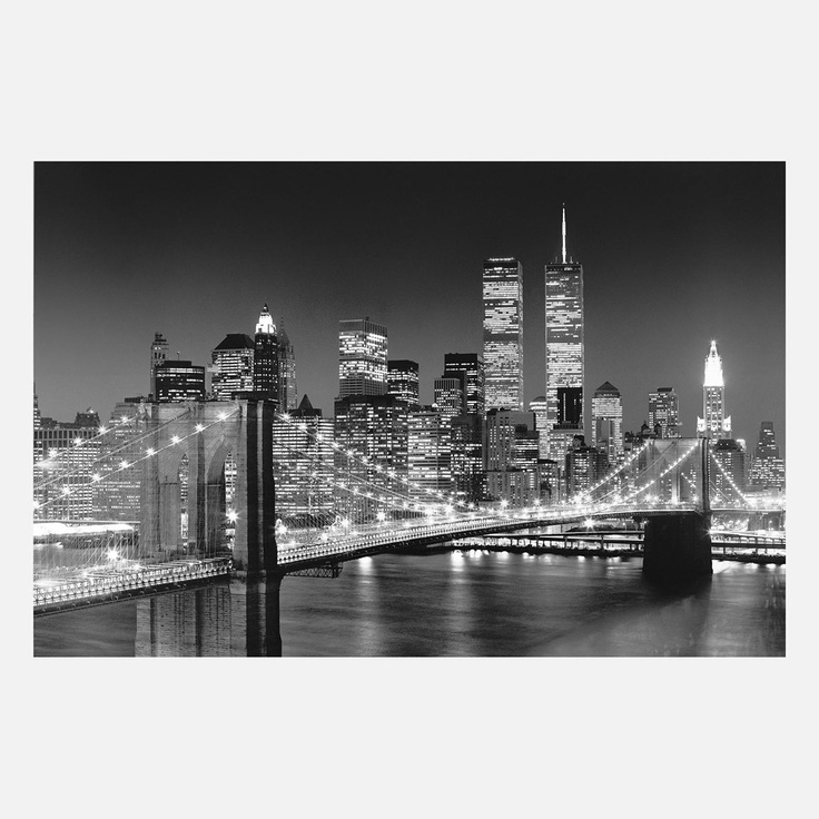31 best newwwww york cityyyyyyy images on pinterest for Brooklyn bridge black and white wall mural