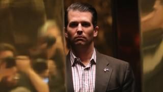 US President Donald Trump's son agreed to meet a Kremlin-linked Russian lawyer last year after being promised damaging information about Hillary Clinton, the New York Times reports.