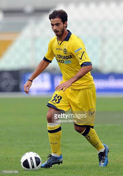 Federico Moretti of Modena in action during the Serie B match between SS Virtus Lanciano and Modena FC at Adriatico Stadium on September 29 2012 in...
