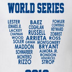 World Series 2016 Cubs Roster Team Names in W Flag T Shirt NL Champions
