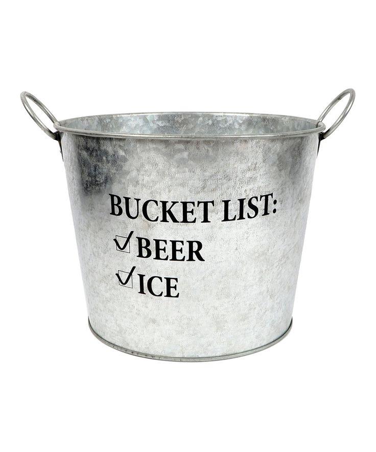Look at this #zulilyfind! Galvanized Metal Beer Bucket by DEI #zulilyfinds