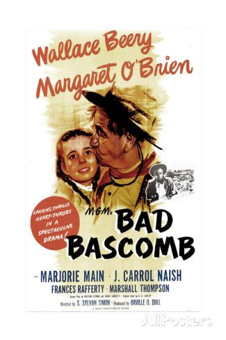 BAD BASCOMB, US poster, from left: Margaret O'Brien, Wallace Beery, 1946 Art Print