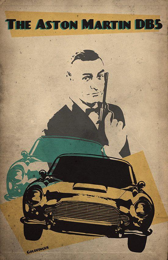 James Bond Poster 007 Poster Alternative Goldfinger Poster