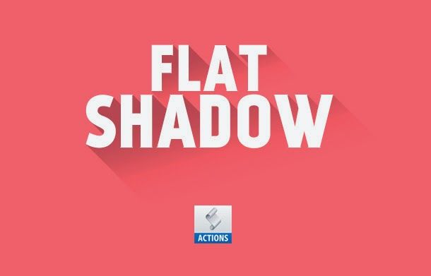 Free PSD Goodies and Mockups for Designers: FREE FLAT SHADOW PHOTOSHOP ACTION