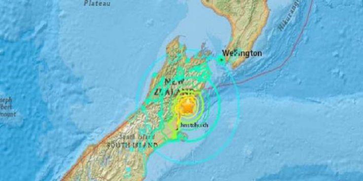"""ΝΕΟΤΕΡΟ: Στα 7,9 Ρίχτερ επανεκτιμήθηκε ο σεισμος στη Νέα Ζηλανδία - Την """"χτύπησε"""" το πρώτο κύμα τσουνάμι"""