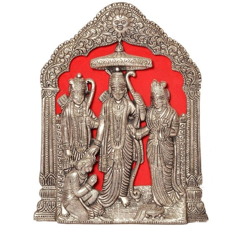 Antique Lord Ram Darbar Idol in White Metal at #Celebstall #homedecor #sale #discount #gift #onlineshopping http://goo.gl/SQF9S0