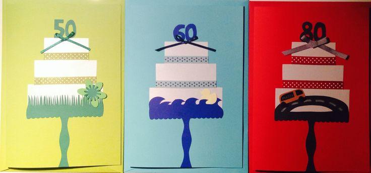 """Birthday Cards """"50/60/70"""""""