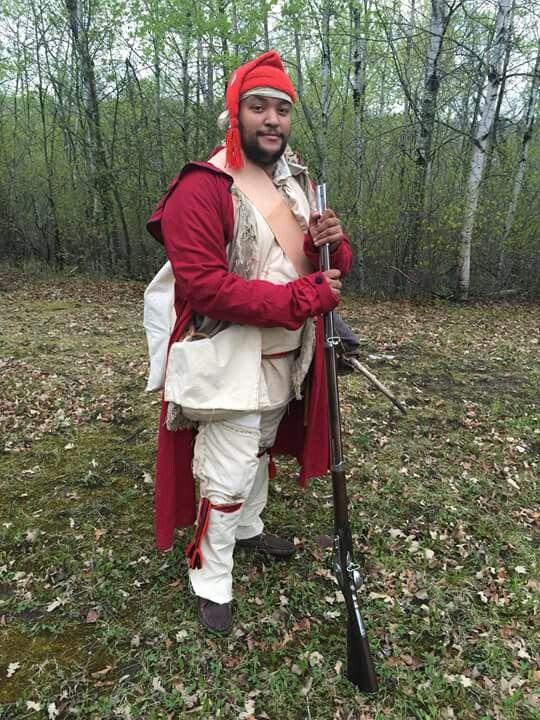 Black French Voyageur Metis Reenactor Fur Trade Free Man