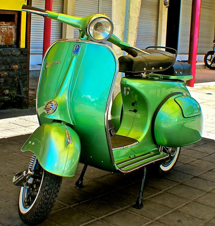 This 1961 Vespa VBB came to us for a badly needed makeover. Even at the age of 53, the engine was still in good condition and we wanted to keep it as original as possible, retaining the original wheel size and even the old speedometer. For its many years of faithful service, it received a chromed engine cover, a fresh metallic green paint, and all new trim. Now it truly sparkles like the gem it is.  islandmotorcycles.com  - Bali, Indonesia FB:  Island Customs & Vespa Classics