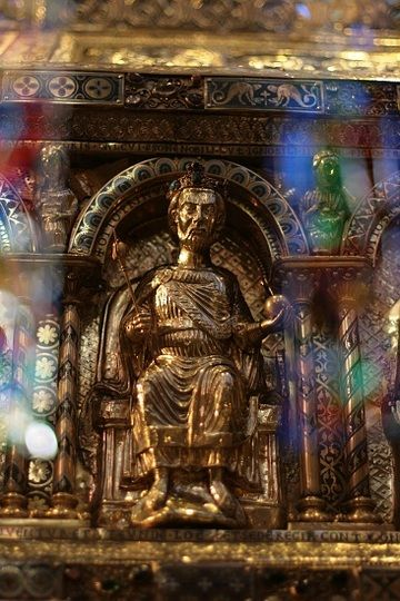 Emperor Otto I on the Golden Shrine of Charlemagne, Aachen Cathedral - Aachen, Germany