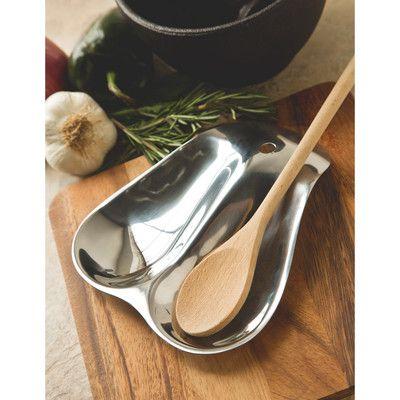 Fox Run Craftsmen Stainless Steel Double Spoon Rest