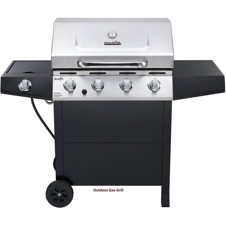 Outdoor Gas Grill Stainless Steel 4 Burner Barbeque Char Griddle Broiler Cooking #CharBroil