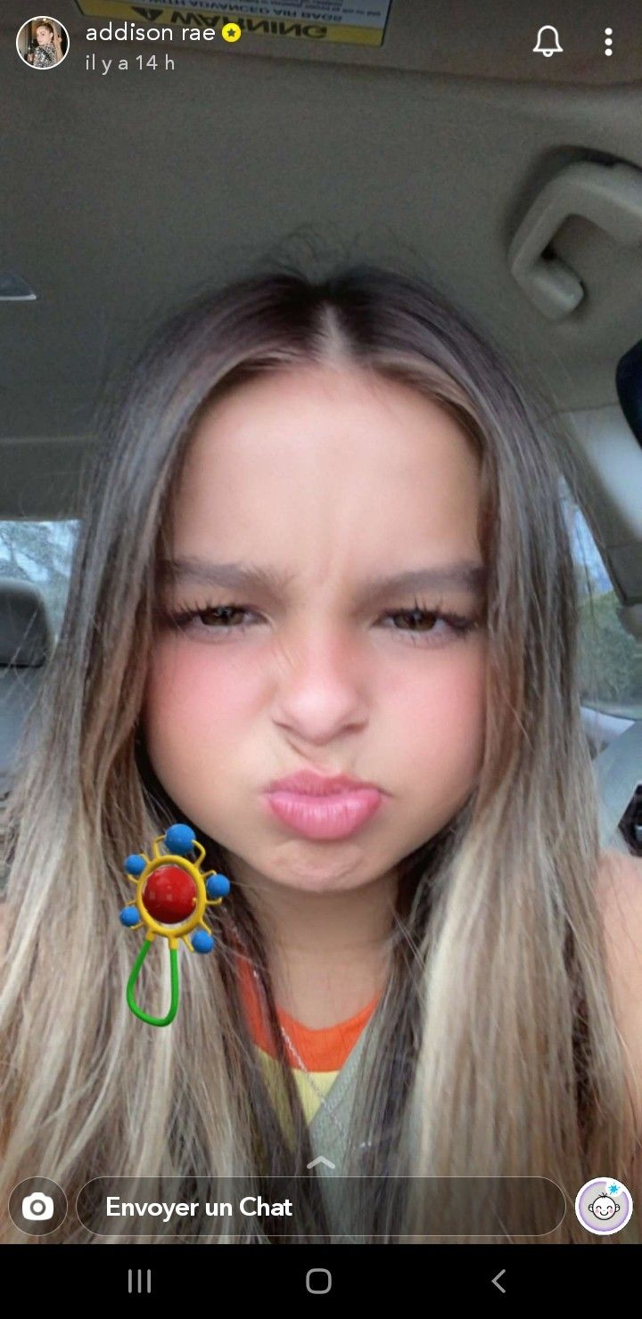 Addison Rae On Snapchat Baby Filter Addison Addis Rae