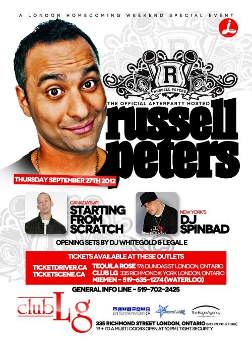 Russell Peters- After party in London, ON live at Club LG - September 27, 2012