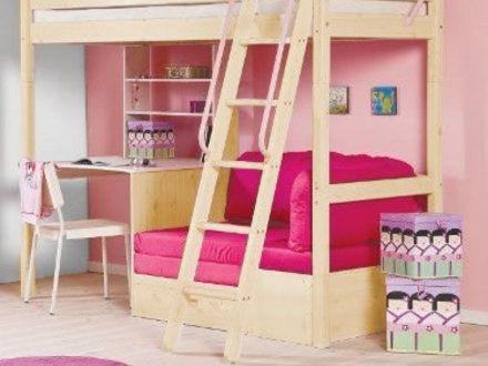 Teen Girl Loft Bed with Desk, Joyful Bunk Bed Plans Stairs - End Mass