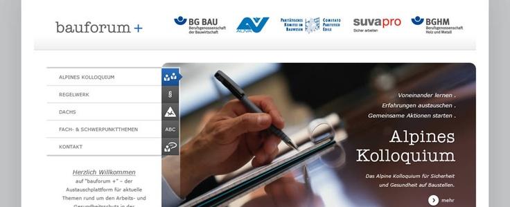 Bauforumplus - Business & Sience Forum Berufsgenossenschaft Bau - Design from: www.albrecht-stoeter.de