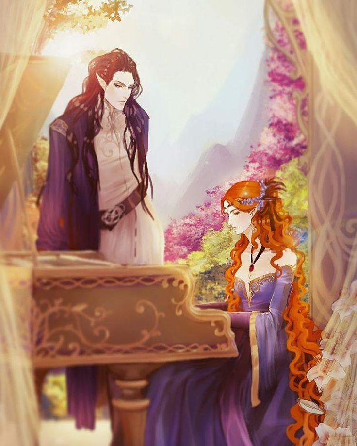 Feanor and Nerdanel - Golden Valinor <<< So there is where Maglor's talent came from.