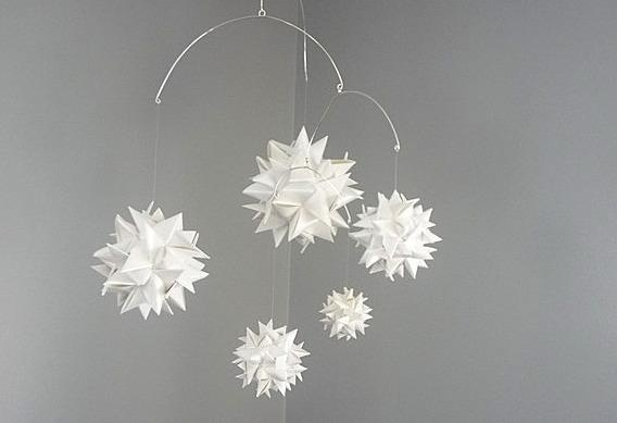 """a Moravian star installation  """"how to"""" at:  http://www.curbly.com/users/diy-maven/posts/531-star-light-star-bright-let-s-fold-a-paper-star-tonight#jump"""