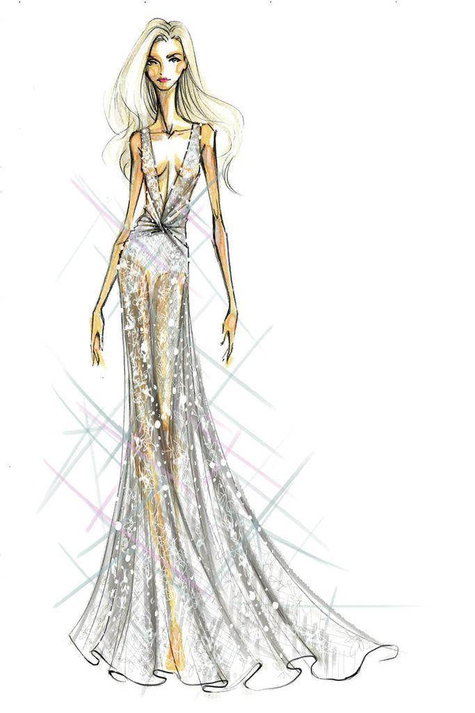 Lady Gaga wedding gown imagined by Diane von Furstenberg