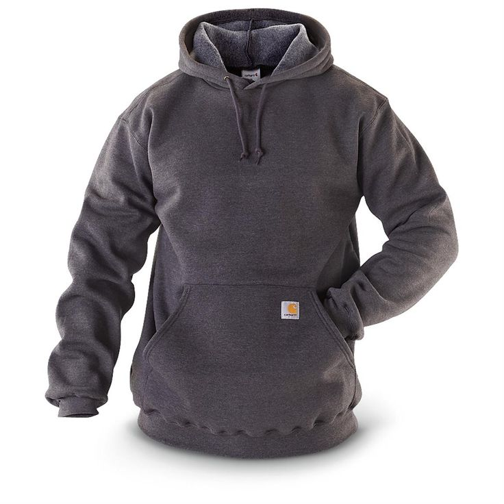 Carhartt Hooded Midweight Pullover Sweatshirt - 1011605, Sweatshirts at Sportsman's Guide