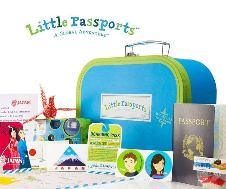 Inspire your child to learn about the world with a subscription to Little Passports! One country a month, packages arrive filled with letters, souvenirs, stickers, activities & more. Kids will love following the journey on their wall-sized World Map, and learning about places like Japan and Brazil. It's the perfect gift for kids 6-10. Start an adventure today! | #LittlePassports