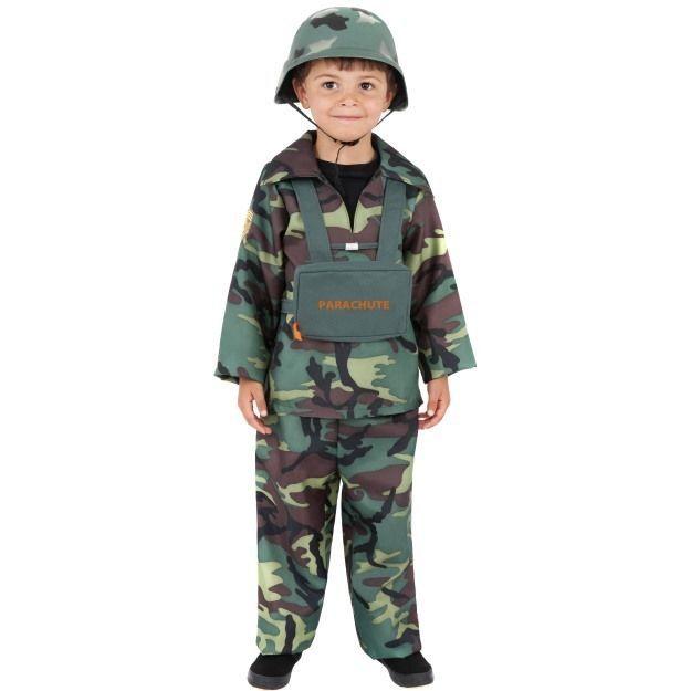 BOYS Desert Army Costume Kids Military Soldier Camouflage Fancy Dress Book Week