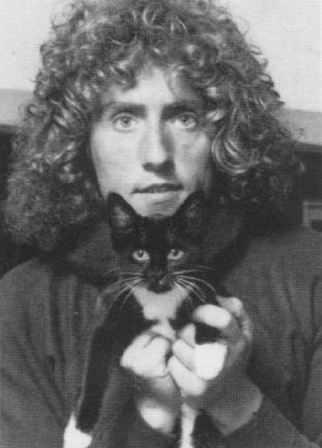 Roger Daltrey and a very lucky cat.
