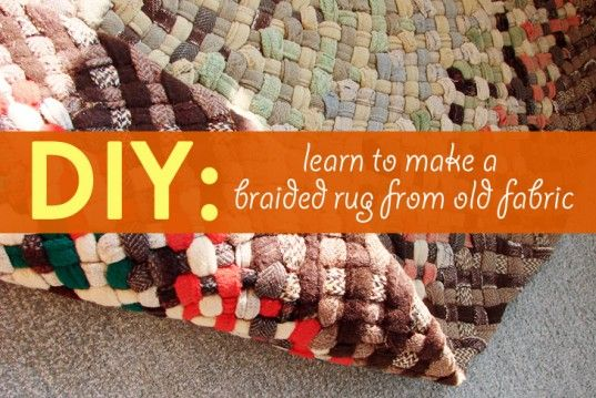 how to make a braided rug without sewing