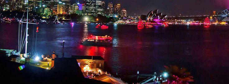 Charter boats light up