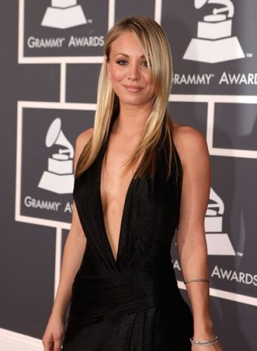 Kaley Cuoco at the 52nd Annual Grammy Awards 2010