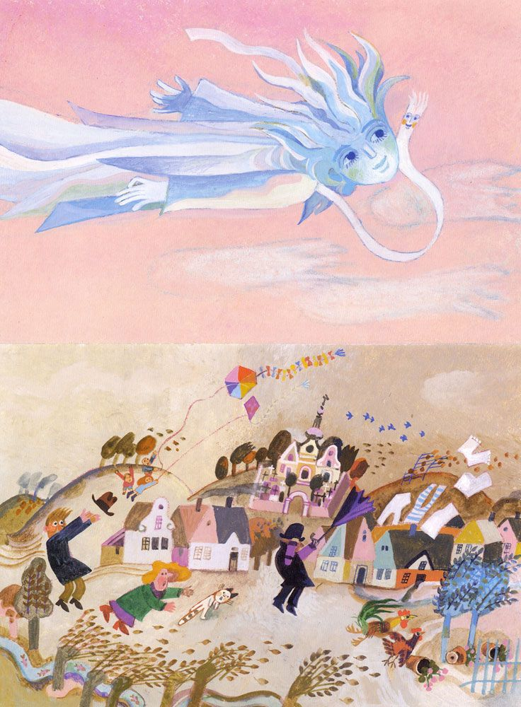 Illustration by Josef Palecek from the book Darek (by Libuse Paleckova)