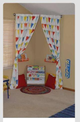 This would be a great corner for Tanner to sit and read or play with his tablet!!!♥♥♥
