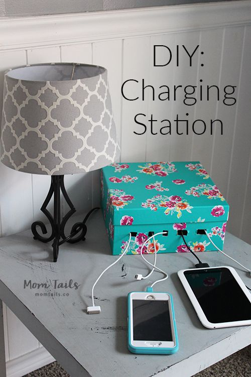 DIY Charging station: It's time to get rid of all the ugly cords and have all your devices in one place!