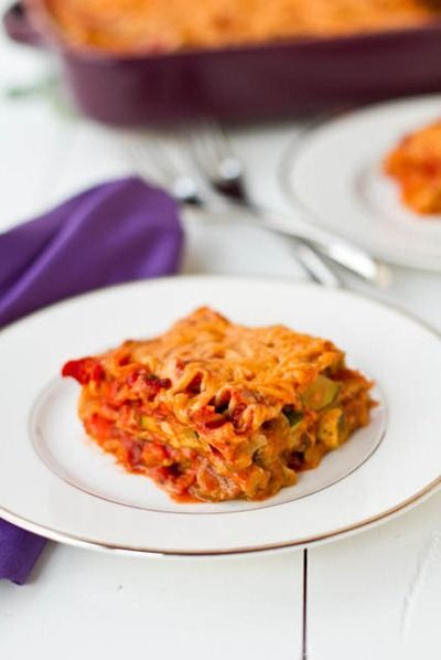 Vegan Lasagna with Basil Cashew Cheeze - Absolutely delicious! I added some vegan breakfast sausage, which put it over the top. Highly recommended!