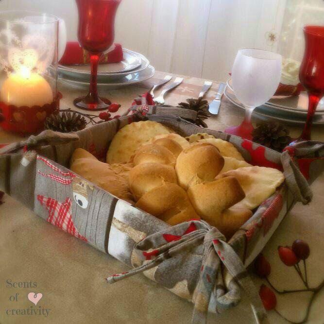 Cestino porta pane fantasie natalizie